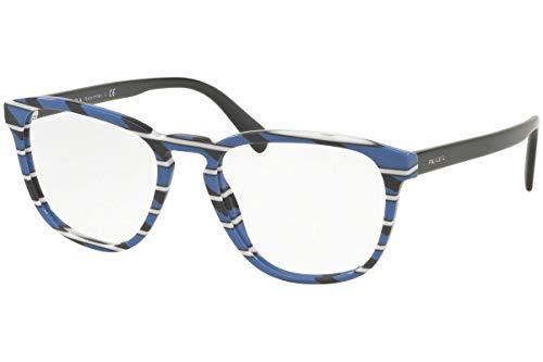 Prada 0PR 09VV Monturas de gafas, Striped Grey Blue, 54 para Hombre