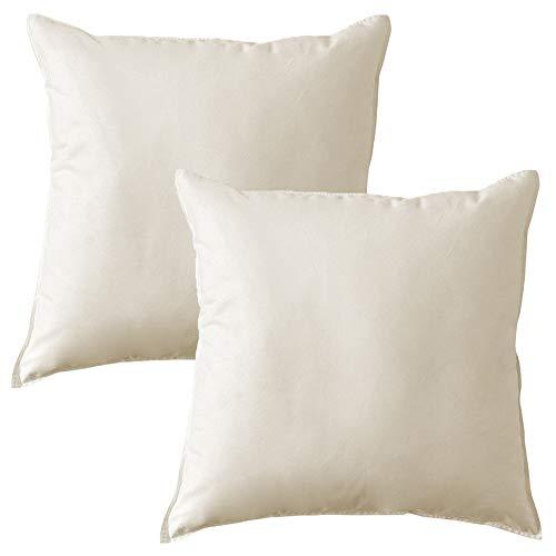 MACK - Basic Kissen Set mit Federfüllung | Federkissen für einen erholsamen Schlaf | 50x50 cm - 2er Set