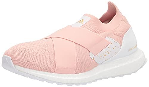 adidas Women's Ultraboost Slip On DNA Running Shoe, Vapour Pink/Gold Metallic/White, 6.5