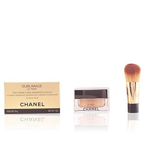 Chanel Sublimage Le Teint Fondo de Maquillaje, Más Tarro de Cristal y Brocha B20-30 ml