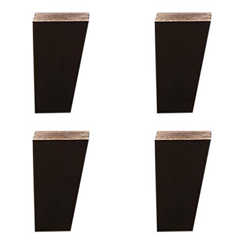 ZXL meubelvoet van eikenhout, meubelvoet, voet, salontafel, voet, voet, 4 pakketten, met verbindingsstuk van legering/met antislipmat