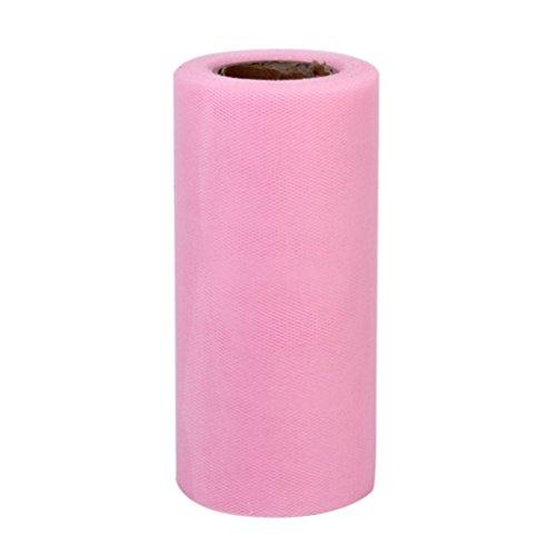 PIXNOR Rotolo di 22 * 15cm Banchetti Nozze Tulle Fai da te Decorazione Del Mestiere (Rosa)