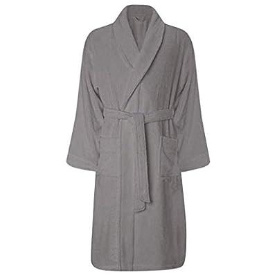 TIANMI Men's Winter Robe Plush Lengthened Shawl Bathrobe Home Clothes Long Sleeved Robe Coat Lounge Robes Family