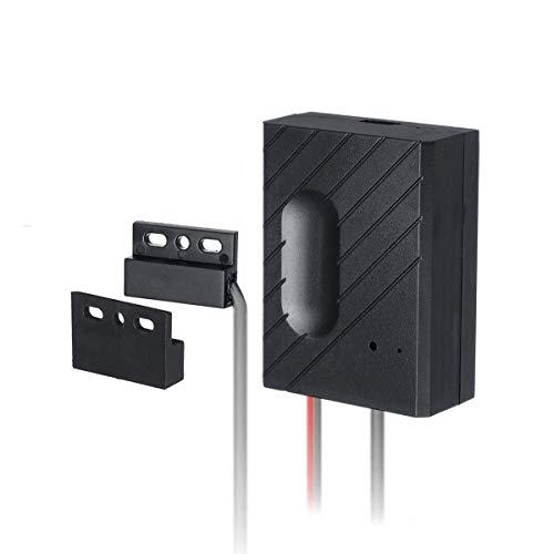 Interruptor inteligente WiFi para puerta de garaje, compatible con Alexa y Google Home IFTTT (negro)