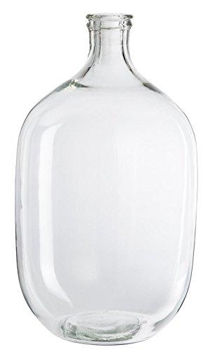 IB Laursen | Glas Vase H 47,0 cm D 28 cm Blumenvase Flaschenvase Karaffe Bauchig | Transparent Klar | Tischdeko Sommer Deko