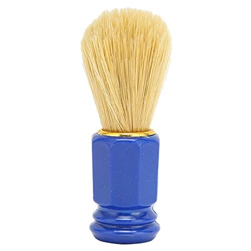 Cepillo de afeitar Mini cepillo de afeitar de pelo suave portátil para hombres Limpieza de barba facial Cepillo de afeitar de espuma de afeitar para uso en el salón, la familia y los viajes(azul)