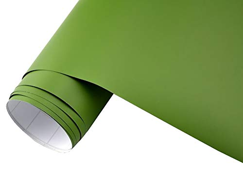Neoxxim 5€/m2 Auto Folie matt - Olive/NATO grün matt 2000 x 150 cm Klebefolie Dekor Folie Möbel Folie