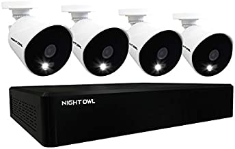 Night Owl CCTV Video Home Security Camera System with 4 Wired 1080p HD Indoor/Outdoor Cameras with Night Vision (Expandable up to a Total of 16 Wired Cameras) and 1TB Hard Drive