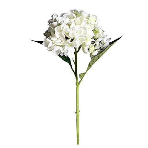 Cerlemi Wohnaccessoires & Deko Kunstblumen Künstliche Simulation Blume einzelne gefälschte Blume Wohnzimmer Schlafzimmer Boden-Decke Stück Blume Großen Strauß Blume (Hydrangea A, 46cm)