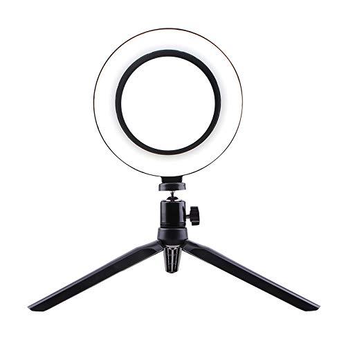 XuBa Selfie Ringlicht LED Kreislicht USB LED Tischlampe mit dimmbarem LED-Fülllicht für Live-Stream-Fotos Tischständer + 16cm Fülllicht