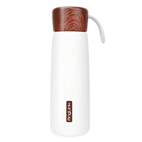 AngLink 500ml Botella de Agua Acero Inoxidable, Botella Termica Aislamiento de Vacío Doble Pared, sin BPA Mantiene Bebidas frías por 24h y Calientes por 12h para Niños,Oficina,Gimnasio,Ciclismo