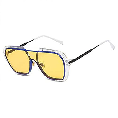 DUOYE Gafas de Sol de Moda de Alta definición, luz de Calle, visión Clara, Adecuado para protección Solar, Deportes al Aire Libre, Desgaste de la Moda, actuaciones de Escenario,A
