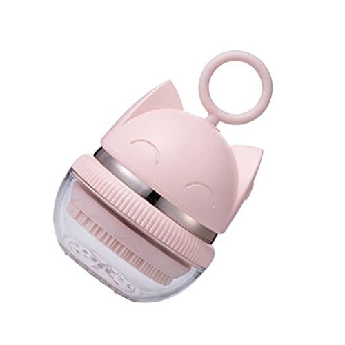 HEALLILY Cepillo de Limpieza Facial Eléctrico Cepillo Facial Impermeable con Patrón de Gato Bonito para Una Limpieza Profunda EXFOLIANTE SUAVE Eliminación de Puntos Negros Herramienta de