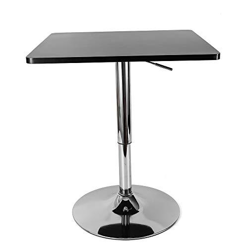 Kaibrite Bistrotisch Partytisch Quadratisch Gartentisch Stehtisch Balkontisch Terrassentisch Höhenverstellbarer Schreibtisch Gaming Tisch 60x60cm, Drehbare Tischplatte aus Robustem MDF