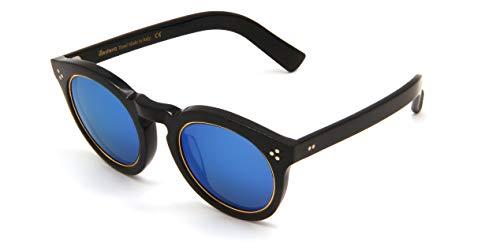 Sonnenbrillen Illesteva LEONARD II RING BLACK GOLD/BLUE Unisex