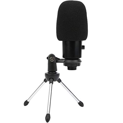 Salaty Condenser Microphone Bundle, Microphone with Tripod Stand Multipurpose Microphone Kit, for Computer Phone