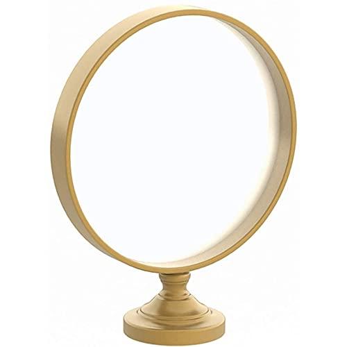 FYHpet Espejo de vanidad Espejo Redondo Metal, Escritorio Alta definición Maquillaje para niña tocador Estilo nórdico Estilo Estar Entrada la Sala Decorativo Múltiples Estilos, 40 * 50 cm