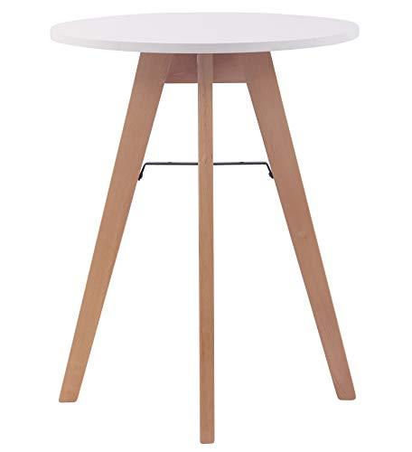 CLP Küchentisch Viktor I Esstisch Mit MDF Tischplatte I Bistrotisch Mit Buchenholzgestell, Größe:60 cm