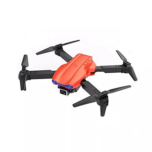LORIEL 4K Drone, HD Professional HD Dual Fotocamera Pieghevole Altezza Mantiene Il Mini Drone, Il Regalo dei Giocattoli Dell'elicottero della Fotografia, per I Ragazzi,Arancia