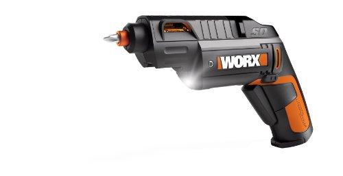 WORX WX254L SD - Tornillo de potencia semiautomático con 12 puntas de conducción