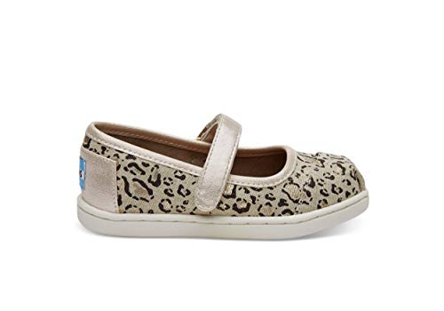 TOMS Kids Baby Girl's Mary Jane Flat (Infant/Toddler/Little Kid) Natural Bob Cat Mary Jane