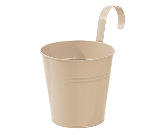 Dehner Semoir Pot avec Support de Repassage, Ø 19 cm, Hauteur 19 cm, Zinc, Beige