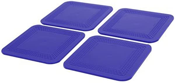 Dycem Non Slip Square Coasters Set Of 4 Blue