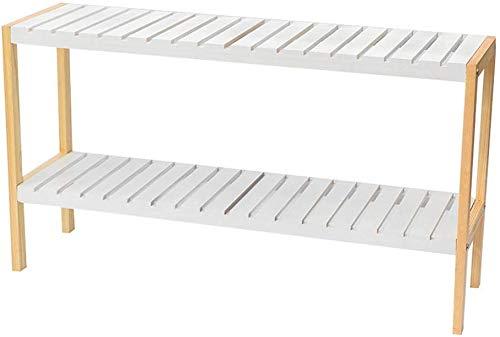 ZFFSC schoenenkast hout beschermdak schoenenkast woonkamer vloer dubbele opslag Rack bed opslag Rack Rack (kleur: wit, grootte: 70 * 26 * 50cm) 70 * 26 * 50cm wit