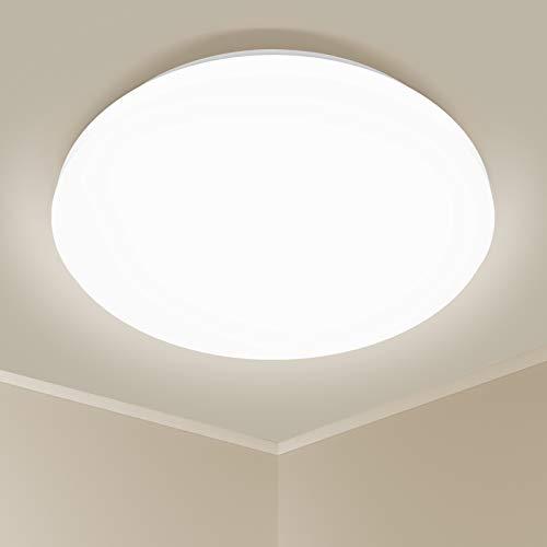Deckenlampe Led Deckenleuchte 24W 2200 Lumen Ø32.5cm für Wohnzimmer Schlafzimmer Kinderzimmer Küche Balkon Flur Korridor Neutralweiß 4000K YOHAYO