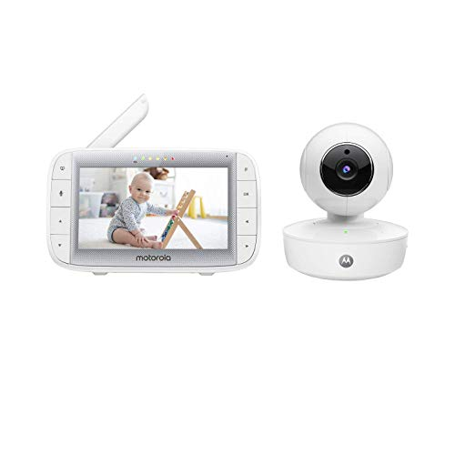 "Motorola MBP50A Video Baby Monitor with 5"" Inch Handheld Parent Unit, Room Temperature Display, Infared Night Vision and Remote Pan, Digital Tilt & Zoom"
