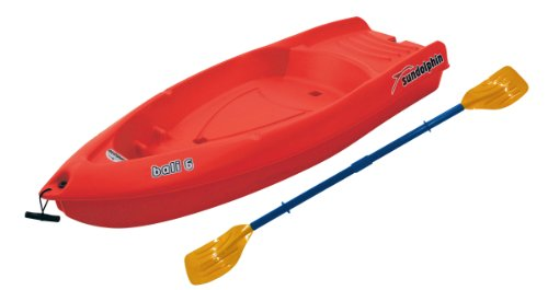Sun Dolphin Bali Sit-on-top Kayak (Red, 6-Feet)