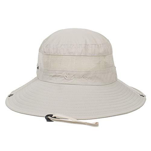 HWY Unisex Sonnenhut Atmungsaktive Eimer Hüte Outdoor Sommerkappe Breite Krempe Shade Caps
