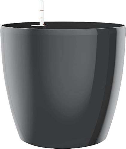 Emsa Blumenkübel für den Innenbereich, Selbstbewässerungssystem, Ø 30 cm, Granit, Casa Brilliant, 517568