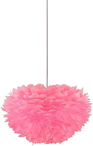 TSUSF Candelabro Novedoso, Candelabro De Personalidad Rosa con Plumas, Decoración para El Hogar, Sala De Estar, Restaurante, Habitación Infantil, Iluminación, Rosa, 1 Luz