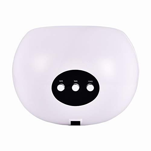 LED 24W UV Nail Lampe, Professional Nail Dryer Durcissement Lampe, Auto-détection, 3 Timers (60s / 90s / 120s), Écran LCD, Convient for Fingernails Maison Et Salon Toenails Cadeau (Couleur : Blanc)