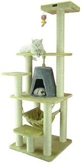 Aeromark International Armarkat Cat Tree Furniture Condo, Height- 60-Inch to 70-Inch