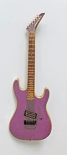 ビンテージ クレイマー ギター(ピンブローチ キーホルダー)Kramer Guitar Pin Keychain (ピンク(ブローチタイプ))