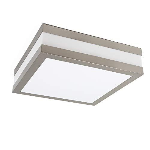LED Deckenleuchte Bad-Lampe Aussen-Leuchte PROVANCE E27 230V IP44 LED Lampe Wandleuchte Außenleuchte Wandstrahler LED Leuchte Aussenbeleuchtung Wohnzimmerlampe für Badezimmer Küche Flur Eckig