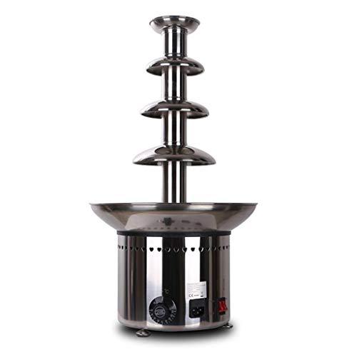 Machine de Fontaine de Chocolat électrique en Acier Inoxydable Commerciale 5 Couche de Chocolat Fondant en Acier Inoxydable trempant la Machine d'isolation 215w Moteur Silencieux capacité de 6.6 LB