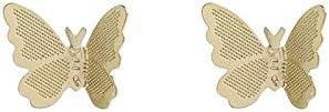 Xi-Link Pendientes, Nails Simple Sensation Metal Sensation, Temperamento Literario Pendientes Compactos (Color : Gold)