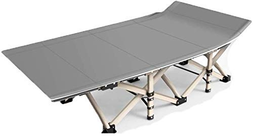 Portable Lounge Chair Reclining Outdoor Folding Chairs Box Twin Bed Frame Bed Camping Gear-No Need to Install / 10 Seconds Folding/Portable Rest Bed (Color : Gray)