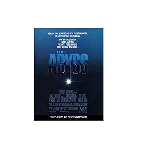 Tiiiytu Película The Abyss Poster Imágenes Artísticas De Pared Lienzo Pinturas Impresas En Lienzo para Decoración De Sala De Estar -60X80Cm Sin Marco