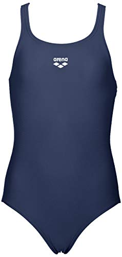 ARENA Mädchen LTS Jr Pro Back Waterfeel One Piece Swimsuit Badeanzug, Navy, 24