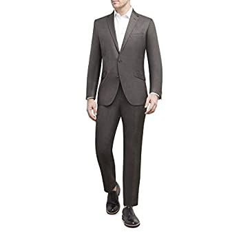 Unlisted by Kenneth Cole mens 2 Button Slim Fit With Hemmed Business Suit Pants Set Brown Shiny 40 Regular US
