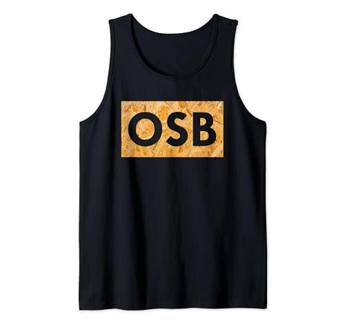 Placa OSB – Texto para aficionados a la madera y a la madera. Camiseta sin Mangas