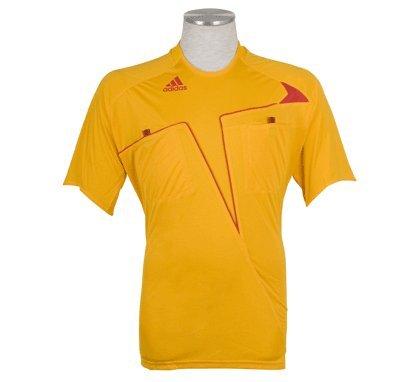 Camiseta de árbitro Adidas CL S/S, color naranja, tamaño large