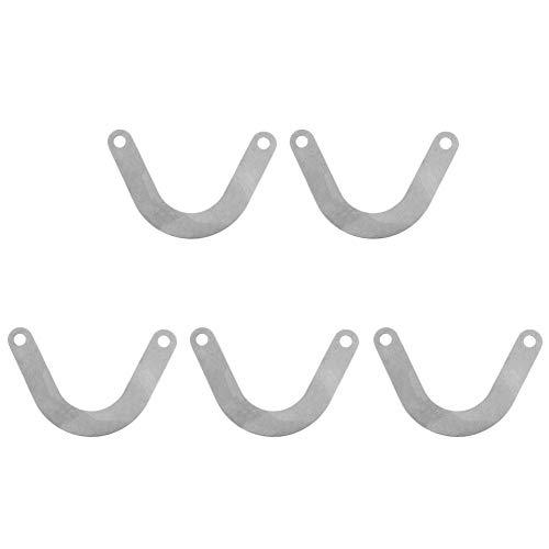 5 stuks ventielplaat metaal U-vorm metaal luchtcompressor ventielplaat accessoires 59 mm breed elektrisch gereedschap accessoires