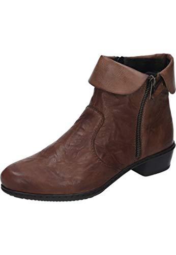 Rieker Damen Y07A8 Kurzschaft Stiefel, Braun (Cuoio/Chestnut 22), 39 EU