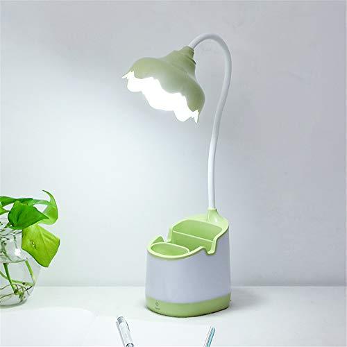 Lectura Creativa y Aprendizaje Protección Ojo Flor Soporte Lámpara de Mesa LED Simple Touch Pen Titular Lámpara de Mesa