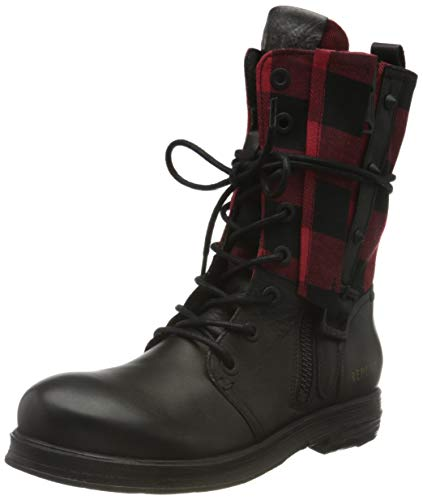 Replay Damen WELKOM Mode-Stiefel, 178 Black RED, 39 EU